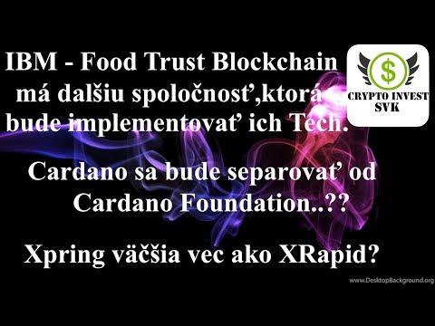 Cardano odluka od Cardano Foundation a Xpring.