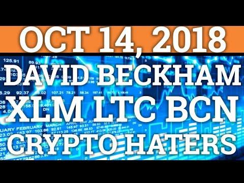 DAVID BECKHAM GETTING INTO CRYPTOCURRENCY? BITCOIN, LITECOIN, MONERO, BYTECOIN (PRICE + NEWS 2018)