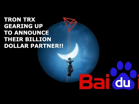 TRON TRX GEARING UP TO ANNOUNCE THEIR BILLION DOLLAR PARTNER!!