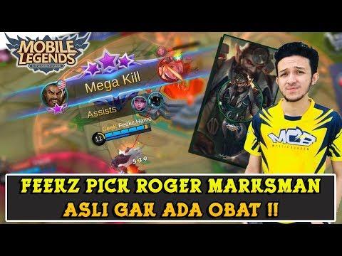 Roger Feekz Asli Gak Ada Obat !! Top Marksman Malaysia Gameplay !! | Mobile Legends