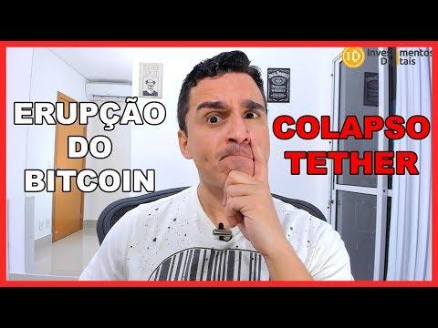 ERUPÇÃO DO BITCOIN A 7680 DÓLARES COM O COLAPSO DO TETHER!
