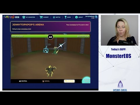 MonsterEOS (3D EOS Game) | dApp Gameplay & Walkthrough