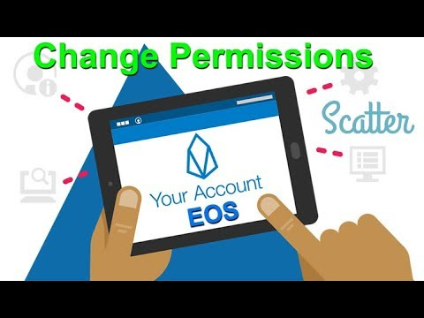 Change Owner & Active Permissions using EOS Account Creator & Scatter