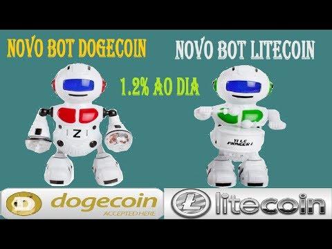 NOVO BOT DE DOGECOIN E LITECOIN DOGEEVOLUTIONNEWS E LITEEVOLUTIONNEWS GANHE 1.2% AO DIA NOVO