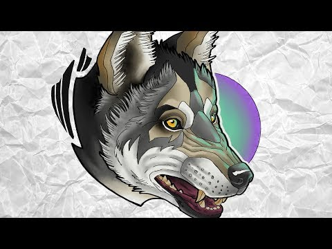 LOBO CINZENTO | Grey Wolf – Neo Trad – Desenha e Fala | Speed Drawing #107
