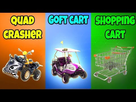 QUAD CRASHER vs GOLF CART (ATK) vs SHOPPING CART in Fortnite Battle Royale! Ep.388