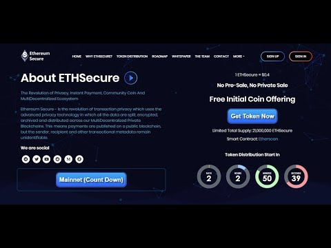 Biggest Project Ethereumsecure | 200$ Dollars Ethereumsecure ( ETHSecure) Coin Airdrop