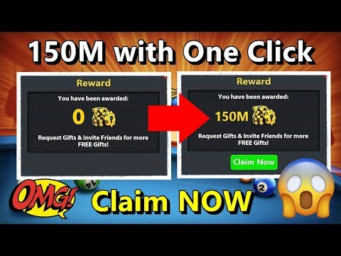 OMG ? 8 Ball Pool 150M  Coins With One Click ? Claim Now