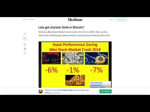 BITCOIN Bottom Safe Haven?  Vs GOLD Vs SILVER Vs US Treasury Stock Market Crash