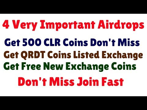 Important Airdrops | Get 500 CLR AND Exchange Coins Free | Join fast