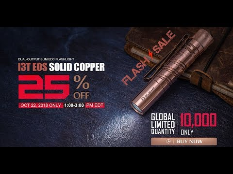 Limited Edition Olight COPPER i3T EOS Flashlight