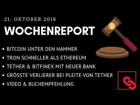 FFDK WOCHENREPORT  Bitcoin unter den 💥🔨! TRON besser als ETHEREUM? Tether & Bitfinex gerettet?