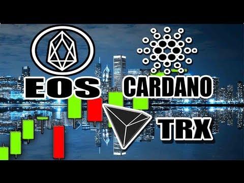 EOS Technical Analysis, Cardano (ADA)'s Icarus, Tron (TRX) Development