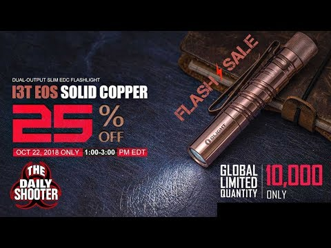 2 Hour Flash Sale! Olight Raw Copper i3T EOS CU