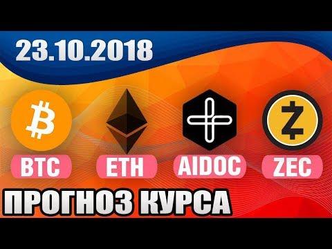 📕 ПРОГНОЗ КУРСА BITCOIN BTC , ETHEREUM ETH, ZEC, AIDOC на сегодня