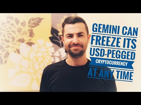 Gemini Can Freeze its USD Pegged Cryptocurrency at Any Time