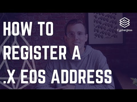 How to Register an .X EOS Address