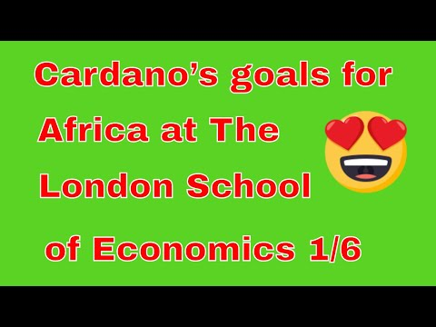 Cardano's goals for Africa at The London School of Economics 1/6