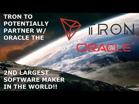 TRON TO PARTNER POTENTIAL WITH ORACLE THE 2ND LARGEST SOFTEWARE MAKER IN THE WORLD!!!!!