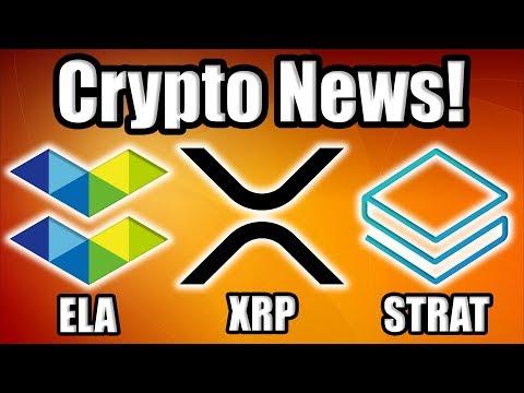 Crypto News: Microsoft partners w/ Stratis (STRAT)!! Elastos (ELA) Dumping?! Plus Coinbase and XRP??