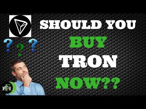 TRON TRX | SHOULD YOU BUY TRON TRX NOW? (OCTOBER 2018)