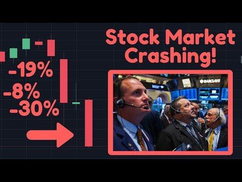 Stock Market Crashing!! | S&P, Dow Jones & Nasdaq Are DOWN! | Gold & Bitcoin As A Hedge?