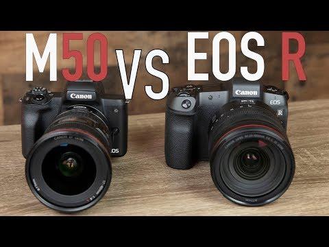 Canon EOS R vs EOS M50