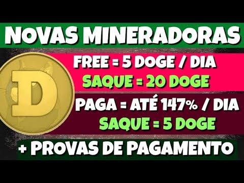 Novas Mineradoras DOGE FREE 5 Dogecoin DogeForever e UnityDoge | + Provas de Pagamento
