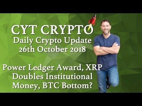 ?Power Ledger Award ?XRP Doubles Institutional Money ? BTC Bottom??