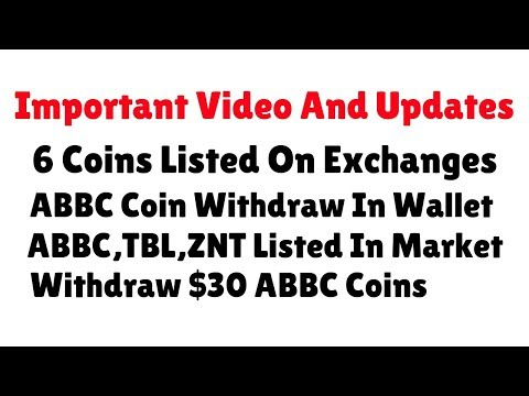 Token Updates | Claim ABBC Coin=$30  | ABBC | TBL | ZNT Listed In Market