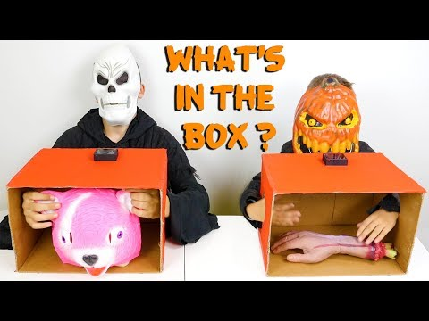 WHAT'S IN THE BOX CHALLENGE 3 !!! – Halloween Édition 🎃 – Swan VS Néo