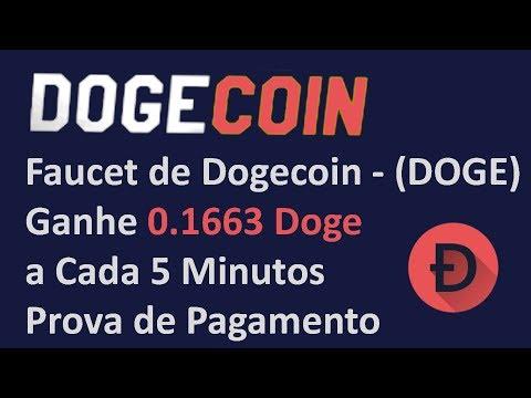 Faucet de Dogecoin – (DOGE) Ganhe 0.1663 Doge a Cada 5 Minutos | Prova de Pagamento