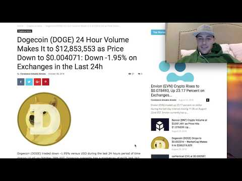 DogeCoin News: (DOGE) 24 Hour Trading Volume Hits $12,853,553 As Price Moves