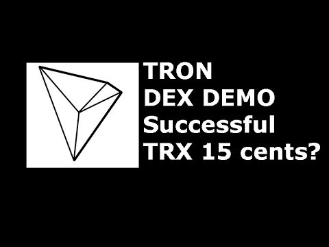 TRON(TRX) demos Decentralized exchange, possible price increase to 15 cents?