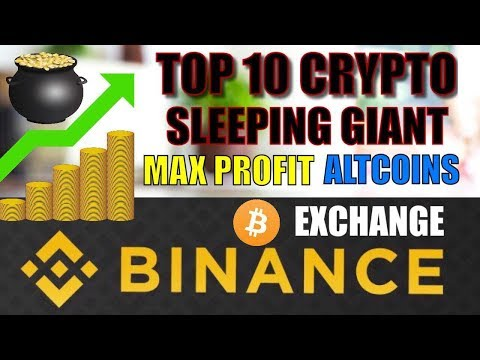 TOP 10 BINANCE crypto Coins for MAX Profit / sleeping Giants Cryptocurrency