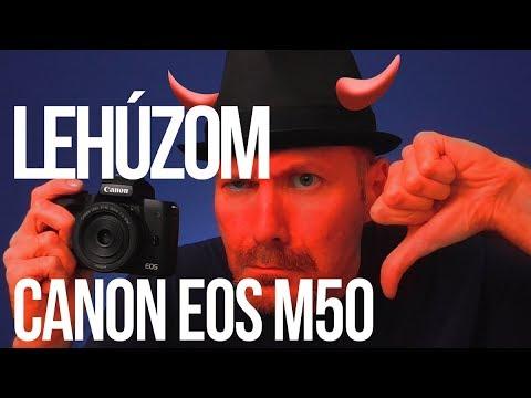 Canon EOS M50 vélemény I. (Negatívumok)