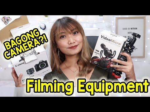 PHP 31,000 NA CANON EOS M50?! MY FILMING EQUIPMENT | MAE LAYUG 2018