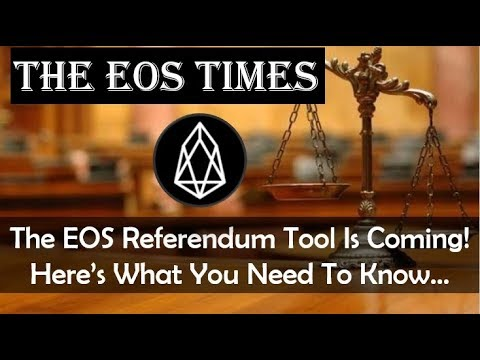 The EOS Times | Everything You Need To Know About The Upcoming EOS Referendum Tool