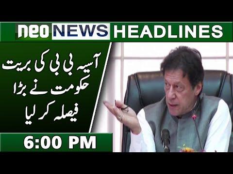 Neo News Headlines   6:00 PM   1 November 2018