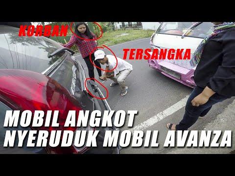 Jalan-Jalan Sore Naik Kawasaki KSR 110cc Ada Mobil Angkot Nabrak Mobil Avanza ! Mba-mba nya Ngamuk !