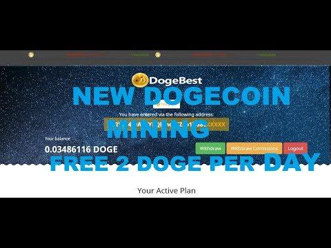 NEW DOGECOIN MINING 2 DOGE PER DAY FREE DOGEBEST