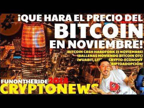 ¡NO TE LO PIERDAS! ¡PRECIO BITCOIN NOVIEMBRE 2018! /CRYPTONEWS