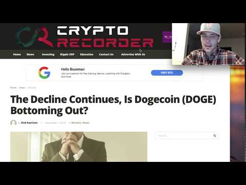 DogeCoin News Today:(DOGE) DEVELOPERS COINBASE STATEMENT | Price Decline Over?