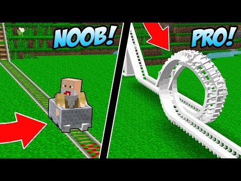 ROLLER COASTER NOOB VS ROLLER COASTER PRO PALING EXTREME YANG ADA DI DUNIA MINECRAFT!