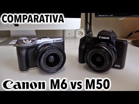 Canon EOS M6 vs M50 | Comparativa