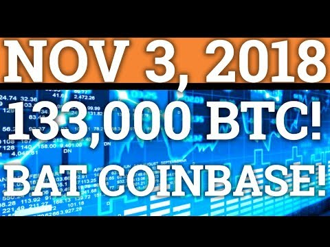 SOMEONE BOUGHT 133,000 BITCOIN! BAT NOW ON COINBASE? CRYPTOCURRENCY PRICE + DAY TRADING + NEWS 2018