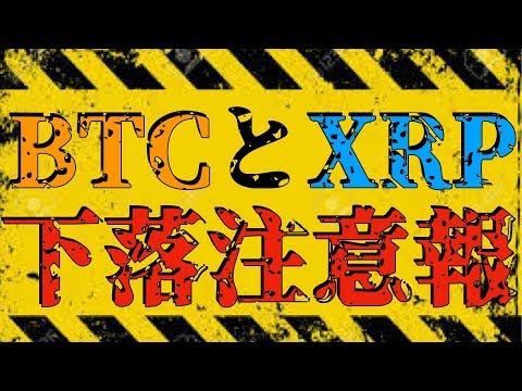 【BTC】ビットコインとリップルは下落します![仮想通貨][Cryptocurrency][XRP]