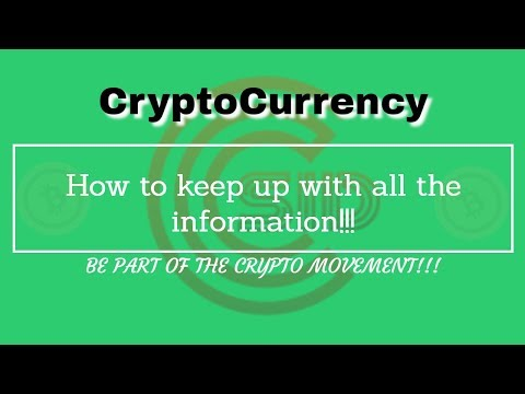 CryptoCurrency and keeping up with it!!!