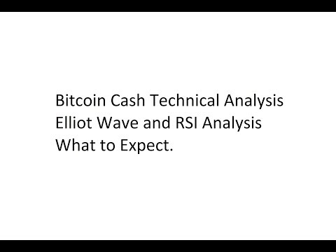 Bitcoin Cash Technical Analysis – Elliot Wave and RSI Analysis – What to Expect.