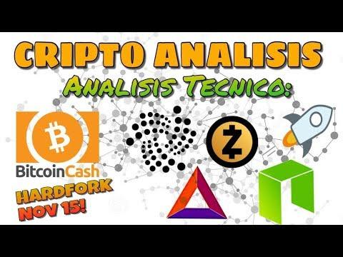 ?Analisis Tecnico: BitcoinCash, IOTA, NEO, BAT, Stellar Lumens y ZCash|Hardfork de BCH en Nov 15!